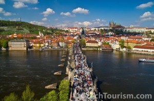Prague - Charles Bridge in summer